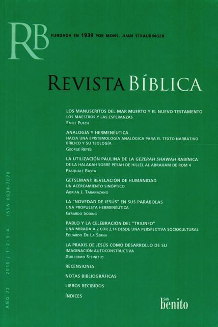 Tapa RevBib 72 (2010)