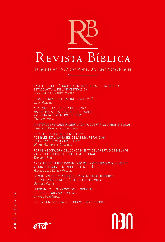 Tapa Revista Biblica 83.1-2 (2021)