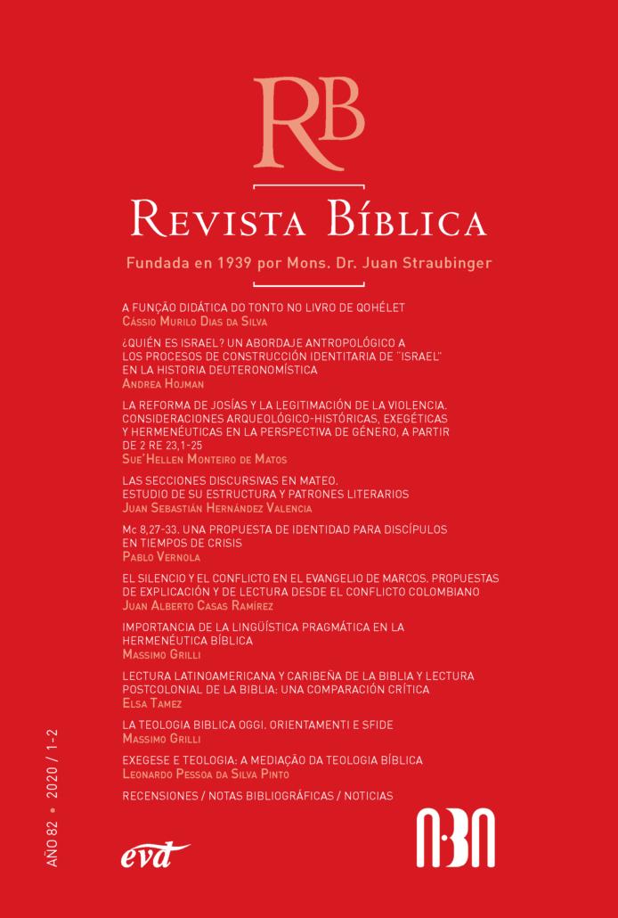 Tapa Revista biblica 82