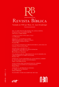 Tapa Revista Biblica 83.1-2
